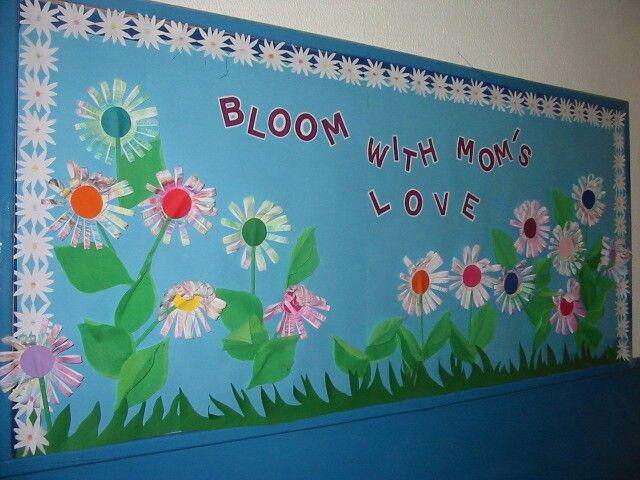 This is a bulletin board idea from the flower wreath idea ...