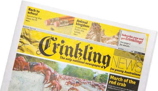 Crinkling - a newspaper for kids