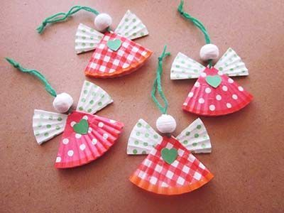 Traditionally, cupcake liners have always been used for baking but believe it or not their are some adorable ways that they can be used for. - this link has a wreath, some ornaments, bows & more... all made with cupcake liners.  :o)
