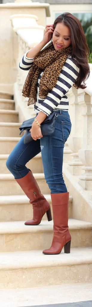 187 best brown knee high boots outfits images on Pinterest