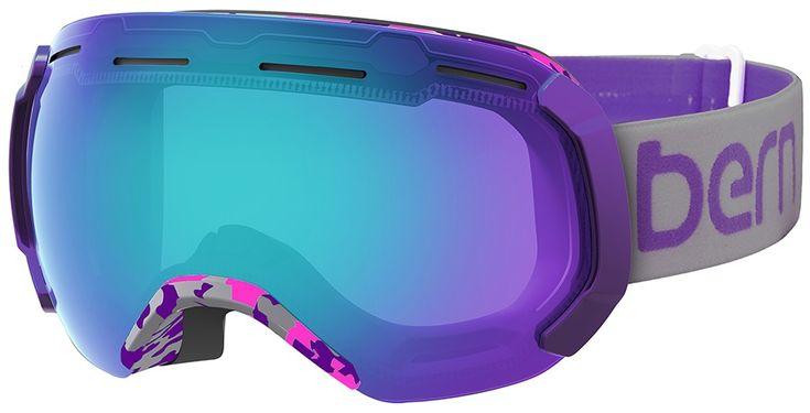 Bern Monroe Snowboard/Ski Goggles, L, Purple Camo, Blue Light Mirror