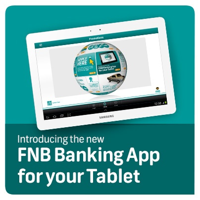 Introducing the FNB Banking App for your Tablet.
