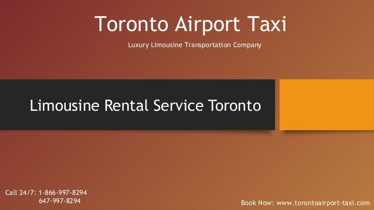 Toronto Airport taxi offer a limo service for a wide variety of events and occessions. we provide following service to our client in toronto and grater toronto area(GTA). Book Now: www.torontoairport-taxi.com