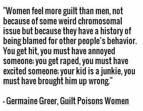Women feel more guilt than men                                                                                                                                                                                 More