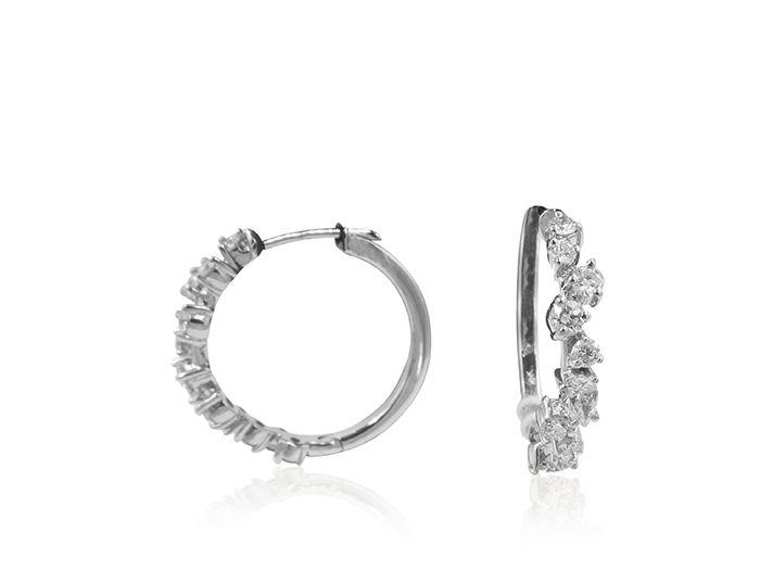 Penny Preville Oval Diamond White Gold Hoop Earrings cTEnlCiHAk