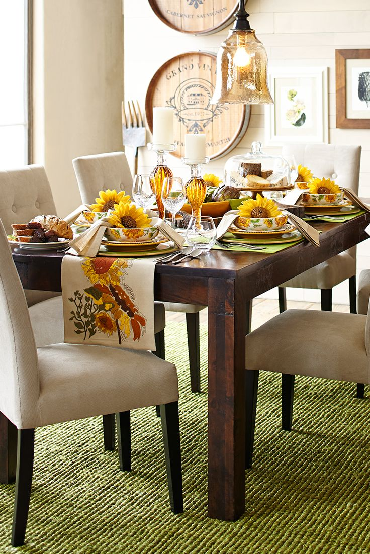 Fall Is A Time For Gathering, And Pier 1u0027s Handcrafted Parsons Dining Table  Offers Plenty