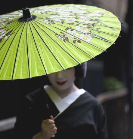 Black Kimono, Green umbrella