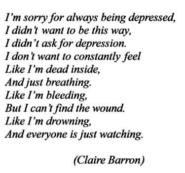 We never ask for it. I hate it when people judge me being depressed when i did not choose it. respect your depression. Respect your feelings. Dont b afraid to show em peeps <3