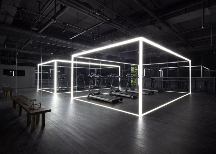Pour les mondiaux d'athlétisme  fin août à Beijing, Nike a transformé une galerie d'art en centre d'entrainement sportif.