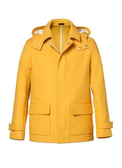 Blouson homme en coton : Achetez votre blouson homme jaune 15EM3DAJA-D302/52 et découvrez également la collection de costumes hommes De Fursac.