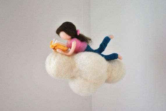 This is a Waldorf inspired piece made of wool by the needle-felting technique. Its been created to provide a peaceful and harmonious image that communicates with the soul through its colors, textures, forms and energy. Dimensions: 8.5 in x 6.5 in Doll: 6.5 in SHIPPING: Since shop-home