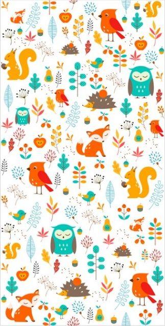 Papel pintado Colourful Animals queda precioso en habitación de nuestro hijo ♥ Los animalitos serán una buena compañía de cada niño ☼