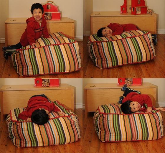 make pouf out of old bedding BABES Pinterest Floor cushions, Bags and Comforter storage