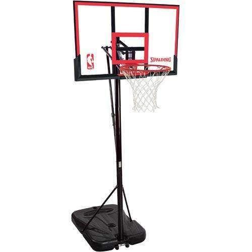 "Spalding 44"" Polycarbonate Portable Basketball Hoop"