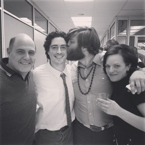 Ben Feldman's last day on the set of MAD MEN with Matthew Weiner, Jay R. Ferguson and Elisabeth Moss.