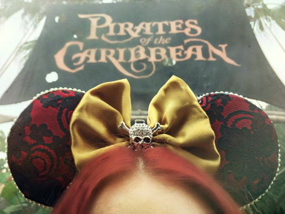 We Wants The Redhead - Disney's Pirates of the Caribbean Inspired Mickey Mouse Ears by extramagichours. Explore more products on http://extramagichours.etsy.com