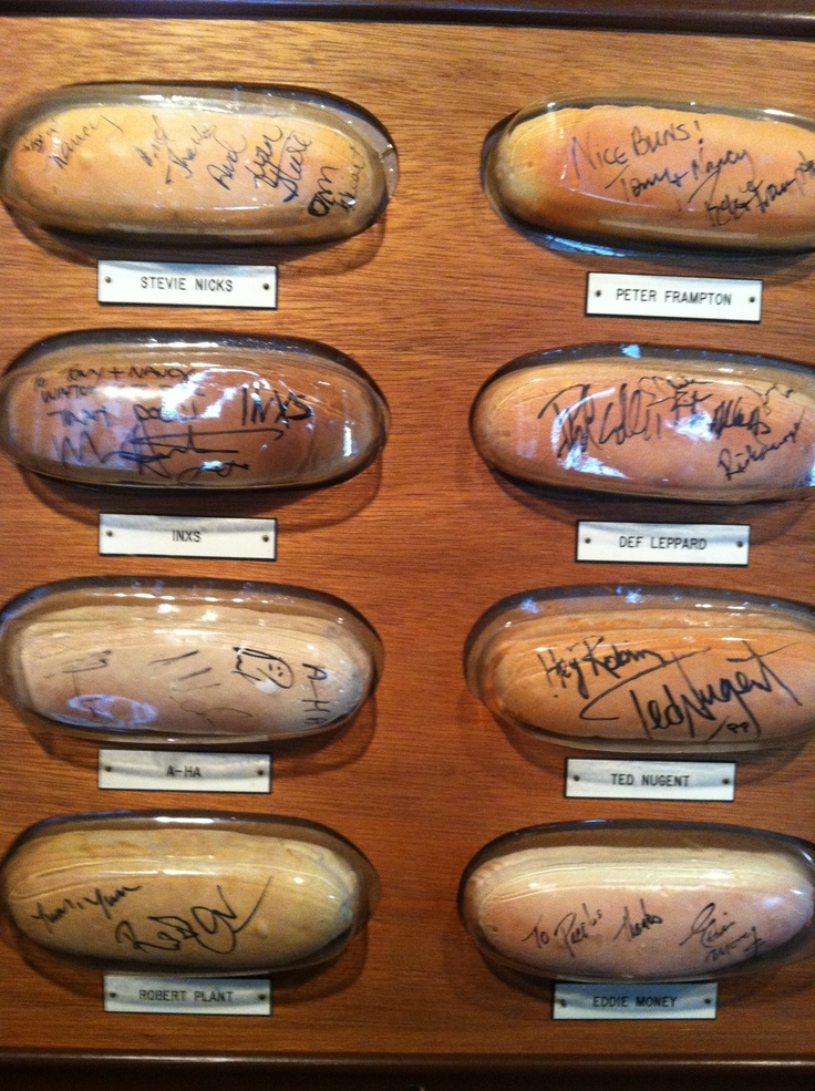 Autographed buns at Tony Packos in Toledo. | Toledo,Ohio ...
