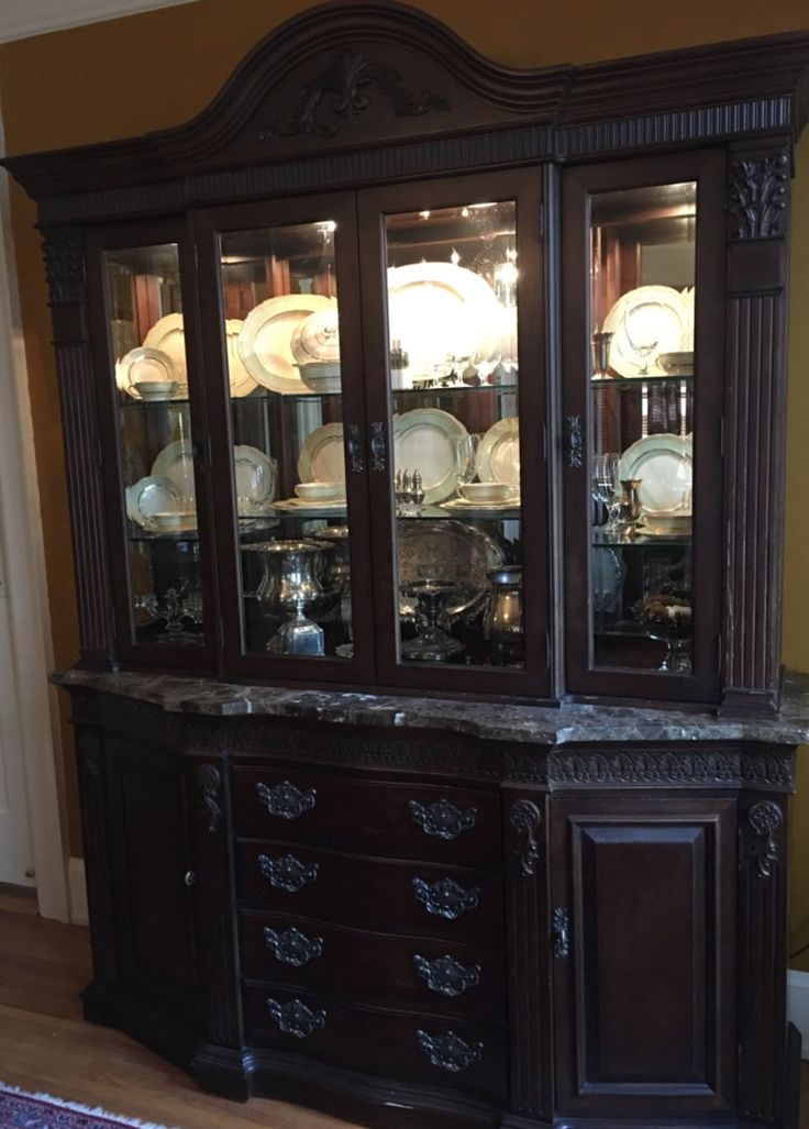 Used Bernhardt Embassy Row Collection China Cabinet for