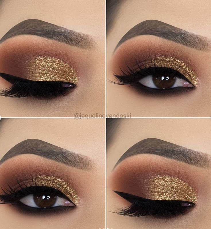 15 Alluring Golden Smokey Eye Makeup Ideas –