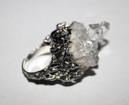 Raw Crystal Ring. if i ever get engaged this is what i want!