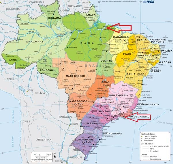 Chica S Blog Rainforest Chica Brazil Map Illustrated Map