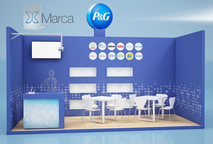 #Stand custom 6x3 P&G Diseño, impresión digital, vídeo