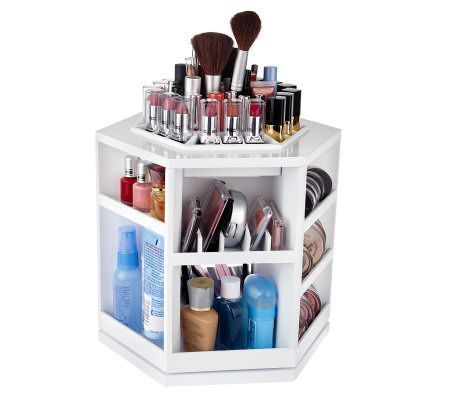Tabletop spinning cosmetic organizer by Lori Greiner. This is perfect for keeping your makeup organized!