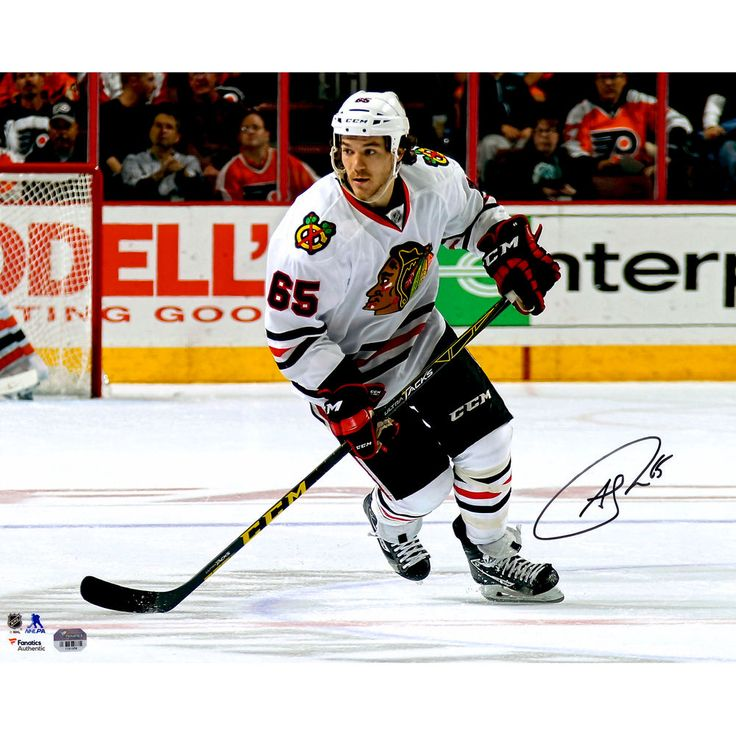 """Fanatics Authentic Andrew Shaw Chicago Blackhawks Autographed 16"""" x 20"""" White Jersey Skating Photograph"""