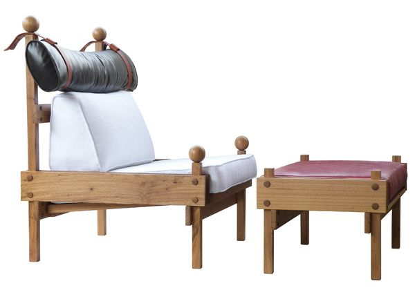 Poltrona Tonico, do arquiteto e designer Sergio Rodrigues e Fernando Mendes.