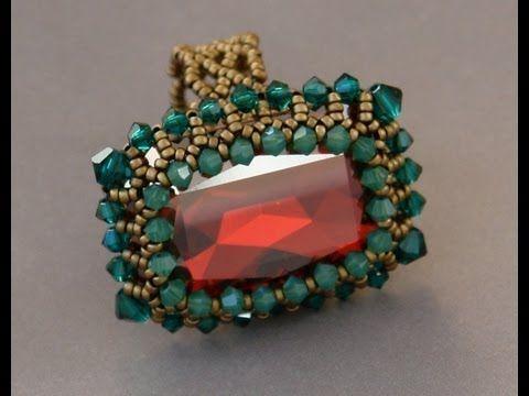 Sidonia's handmade jewelry - How to bezel a 27x18,5mm Swarovski square cabochon - YouTube