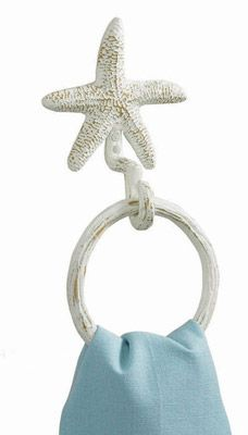 Starfish Towel Ring Hook $16.95