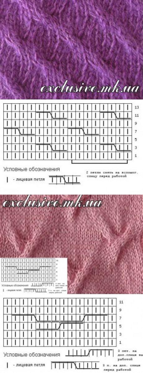 Косы спицами | Салон эксклюзивного вязания