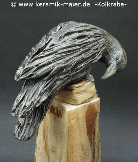 Reingard Maier  handmodellierte Vögel aus Keramik