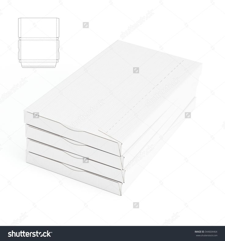 Slim Shipping Box with Die Cut Template
