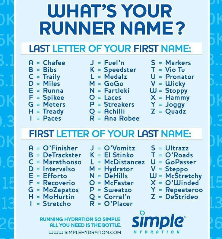 "Mine's ""Runna McStretchy!"" What's yours?"