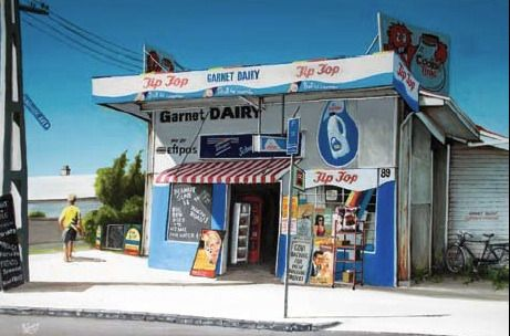 Garnet Dairy Canvas Print by Graham Young for Sale - New Zealand Art Prints