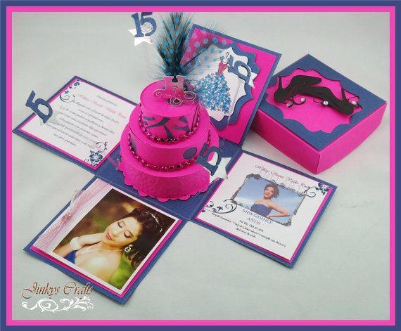 Exploding Box Invitation & 3Tier Cake PDF by jinkyscrafts on Etsy, $6.50