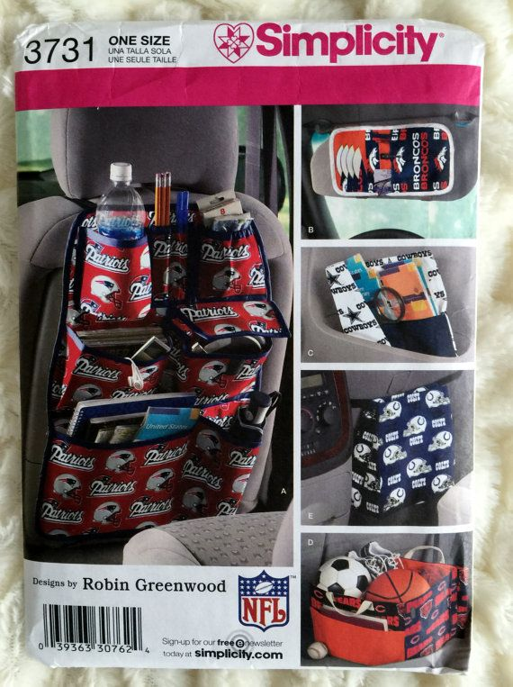 Simplicity Car Organizers Totes Sewing Pattern 3731 by Vntgfindz