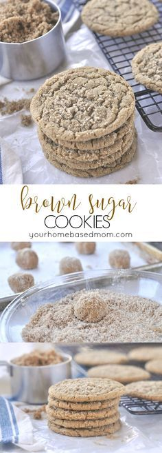 Brown Sugar Cookies are full of amazing flavor and just the perfect texture @yourhomebasedmom.com