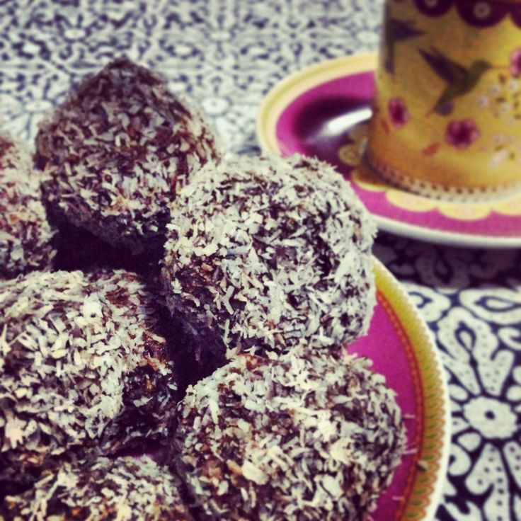 Date, cacao and seed truffles from Dr Libby.  My toddler makes these and LOVES them!