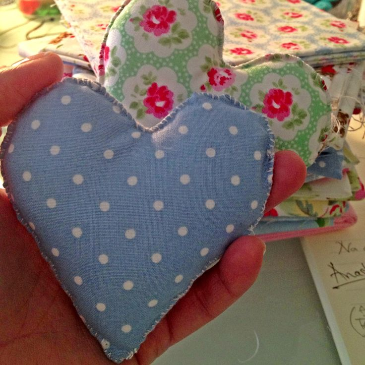 handmade cotton hearts