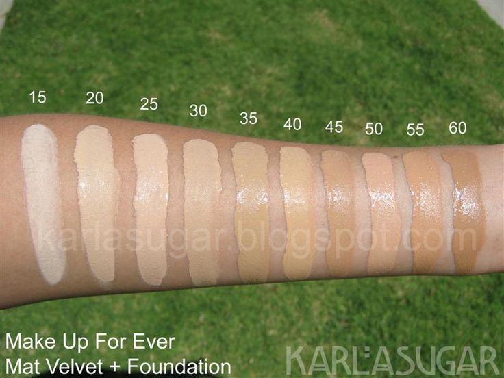 Make Up For Ever Mat Velvet + Foundation, Swatches, Photos, Reviews