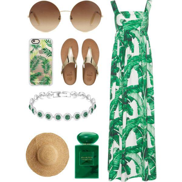 Emeralds Galore by pattibear on Polyvore featuring moda, Dolce&Gabbana, FitFlop, Victoria Beckham, Flora Bella, Casetify and Giorgio Armani