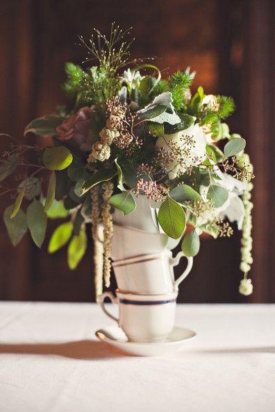 bridal tea centerpiece