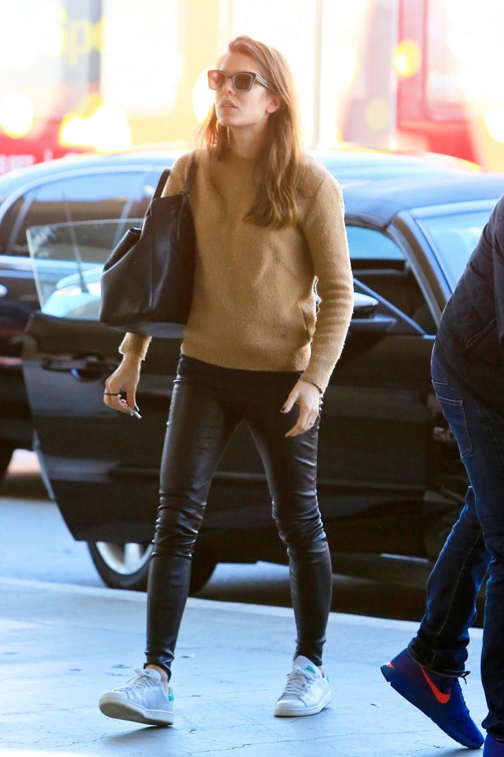 Charlotte Casiraghi as she arrived to the airport.