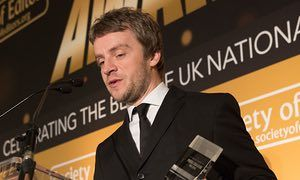 The Guardian's Daniel Taylor has won both the news reporter and sports journalist of the year awards for his series of stories about child sexual abuse in football.    His interview with Andy Woodward, who revealed he had been abused by coach Barry Bennell as a young footballer at Crewe Alexandra, was the first in a series that exposed a previously hidden scandal.