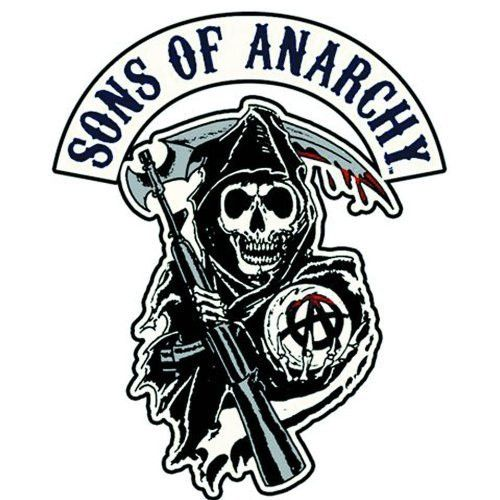 Sons of Anarchy Reaper Logo Patch - Iron On / Sew On Patch - 4.25""
