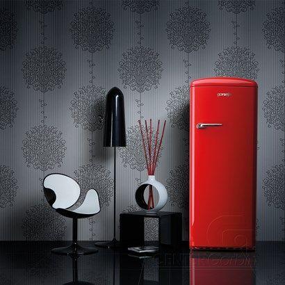 Geladeira Gorenje - Refrigerador Gorenje Retro vermelha (red) - Center Garbin