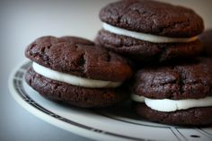 Homemade Oreo Cakesters (with cake mix!)--I think I would use cream cheese/confec sugar instead (for filling)