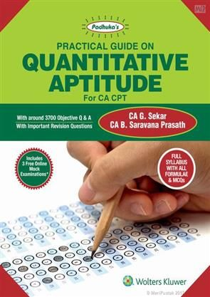 Padhuka's Practical Guide on Quantitative Aptitude For CA CPT #OrderNow @ www.meripustak.com/pid-150915 #PadhukasPracticalGuideOnQuantitativeAptitude, #QuantitativeAptitude, #ForCACPT, #TheoryAndMCQs, #Theory #MCQs, #OnlineMockExaminations, #Mock #Examinations, #ImportantRevisionQuestions, #Accounting, #CharteredAccountant, #CA_G_Sekar, #CABooks, #CA #CAInter #CAFinal, #IPCC, #CAIPCC, #CMA, #CMAFinal, #CS, #CMAInter, #AcademicBooks, #ProfessionalBooks, #OnlineBookstore, #BuyBooksOnline in…